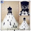 jj3520 de encaje de color de la boda de suzhou vestido de negro y blanco de la boda vestidos 2014
