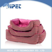 Three- suits comfortable rose red pet sofa bed for small animals