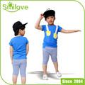2015 mais popular stocklot crianças correspondentes camisa e calças de algodão crianças desgaste do verão meninos