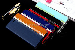 Cheap Smart Dual Color Folio Wallet Card Slot Leather Stand Case Cover For iphone 6