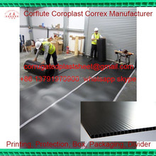 polypropylene corrugated plastic floor protection sheet