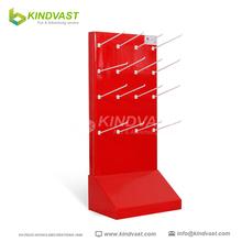 custom supermarket promotional retail 2 side hook cardboard display