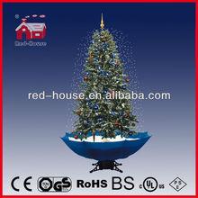 UK Flashing LED Animated Singing Christmas Trees, Christmas Tree with clear white LED Bulbs