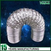 custom aluminum foil hvac flexible exhaust duct