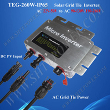 260W Grid Tie Micro Inverter with Communication Function, On Grid Solar Inverter with Monitoring Function
