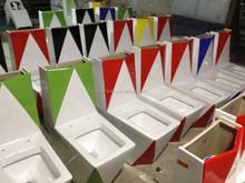 ceramic siphonic toilet/closet ,ceramic one piece water closet ,siphonic one piece toilet for bathroom sets