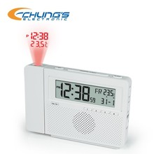 AM/FM digital temperature projection clock radio