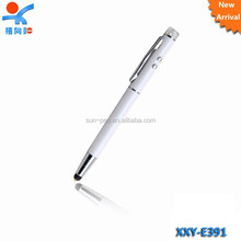 Lovers multi function metal pen with light
