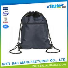 High quality promotion 100% black velvet drawstring bag