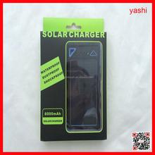 YASHI Solar Power Bank 12000 mAh mobile phone solar battery charger 12000mah