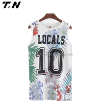 newest design women basketball fashion singlet for sale