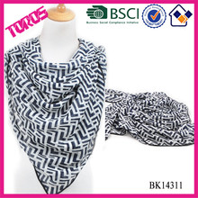 100% Polyester chevron printed scarf