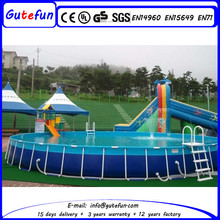 ground swimming pool equipment metal frame swimming pool for sale