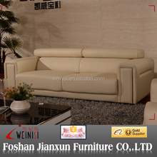 J1231 china furniture manufacturer direct from china furniture leather sofa with adjustable headrest
