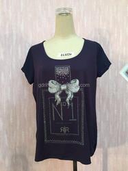 2015 plus size modal perfume bottle cotton t shirt for women