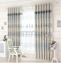 100% Polyester fabric wholesale ready made window curtain