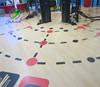 PVC floor covering used gym floor plastic flooring