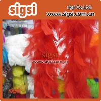 china alibaba wholesale red turkey feather boa for party decoration