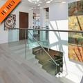 Barandas y pasamanos, barandilla de acero inoxidable de vidrio post barandilla balcón zw-h125