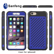 Cell phone case OEM for iphone6 pc tpu smart cover with low price free sample