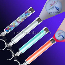 new product for 2015 led custom logo projector torch keychain,led keychain with projector,promotional gifts led logo laser light