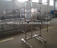 HUAYU stainless steel smoking meat trolley