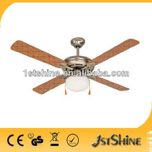 electric ceiling fan with light SHD52-4C1L-31 with CE hot sell in Europe and South America