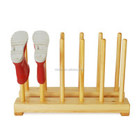 wooden Childrens welly shose rack