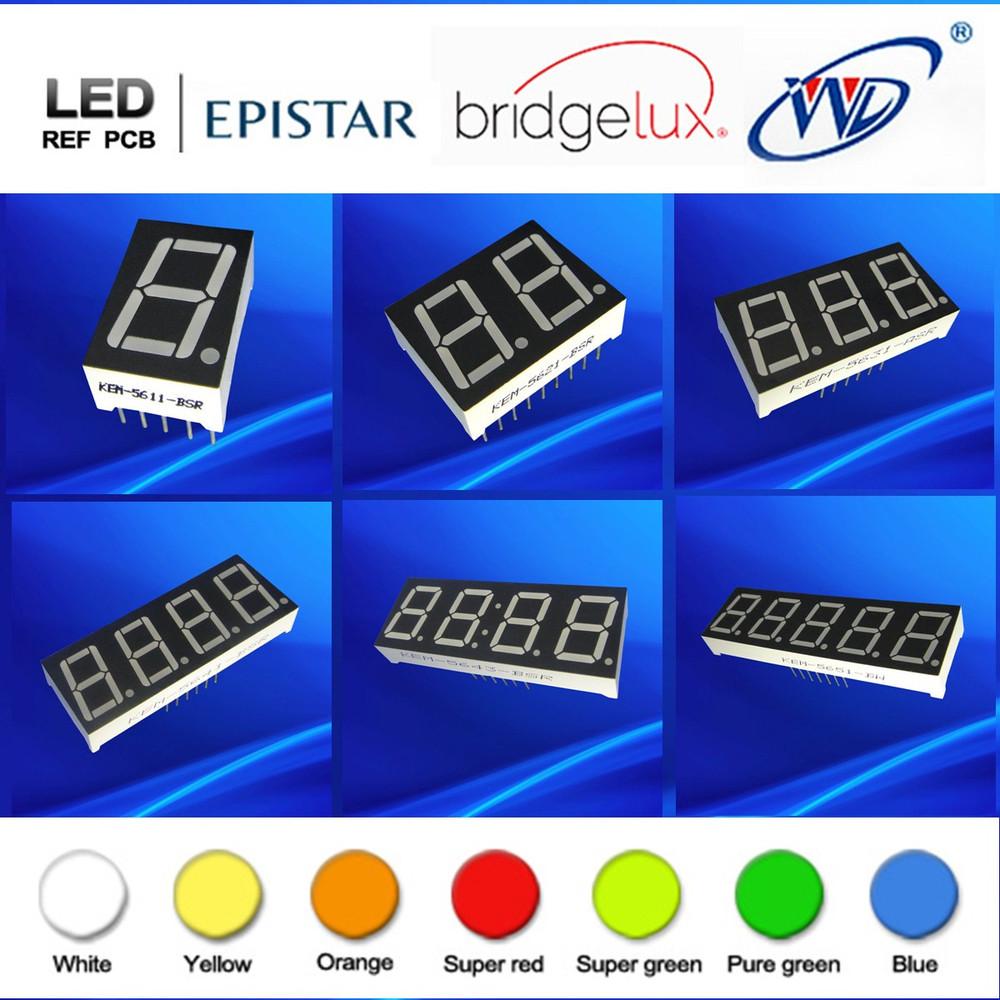 2 digit led number ultra red green white blue led 16 14 segment led display
