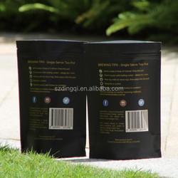 Custom size kraft paper pouch with block bottom