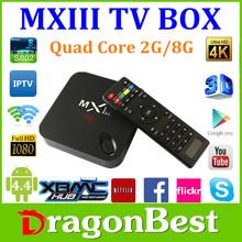 MXIII mx3 mx iii Android 4.4 Amlogic S802 Quad Core android tv box 4k decoding ,Octa GPU 1G 8G