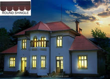 Professional round colored asphalt roofing shingles,Best Asphalt Shingles for modern house