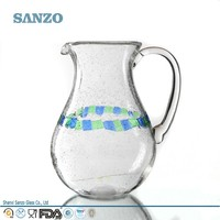 Sanzo Custom Glassware Manufacturer wholesale pressed pyrex glass pitcher