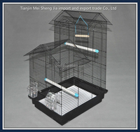 2015 new design portable folding bird cage wire bird breeding cage