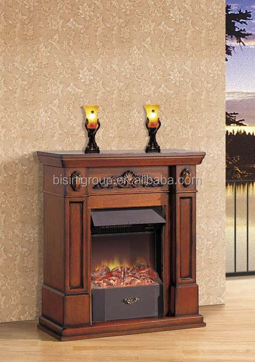 Classic European 220v Electric Fireplace Small Home Remote
