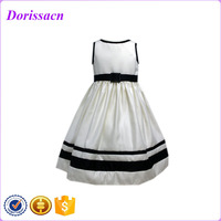 new design four season suitabale dresses tutu ladys flower satin frozen kids baby girls dress with good quality