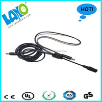 Low voltage 5.5 2.1mm dc adapter cable 2 male to female ROHS certified power cable