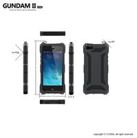 Original Gundam II Aluminum Silicon Shockproof Cell Phone Case for iPhone 5 5S