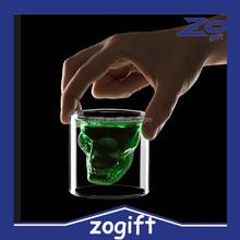ZOGIFT 2015 Doomed Crystal Skull Shot Glass/Crystal Skull Head Vodka Shot Wine Glass Novelty Cup