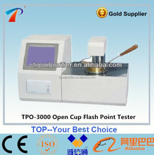 Adopting microcomputer technology oil flash point analysis plant with man-machine conversation LCD display