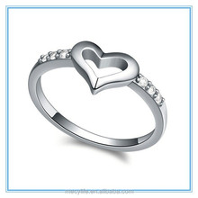 MECY LIFE wholesale price for 2015 new creative popular hot selling plated white gold Europe and America love ring with diamond