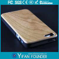 PC wood case for iphone 5c, plastic wood cover for iphone 5 accessories
