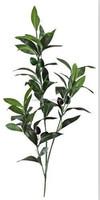 decorative plant 3 stems silk Olive branch(3 fruits)