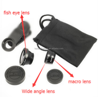 Universal 3 in1 Clip Fish Eye Lens+Wide Angle+ Macro Mobile Phone Lens for iPhone Samsung Most phone has a camera