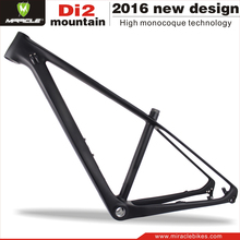 "MIRACLE Carbon mountain bike frame 2016 29"" MTB carbon frame lightweight mtb carbon frame 16'' 17.5'' 19'' 21''"