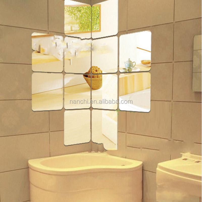 Carr acrylique miroir sticker bricolage salle de bains for Bricolage salle de bain
