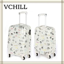 PC+ABS travel trolley case/luggage case for girls and children