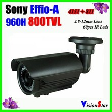 "OSD Menu 1/3"" Sony Super HADII CCD 60 Pcs IR Leds Outdoor Using Waterproof Bullet Security CCTV Camera Vision Star"