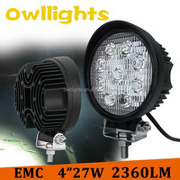 Driving Lamp 27W Working Light For Three Wheel Motorcycle 27w Tractor Round Sport Light