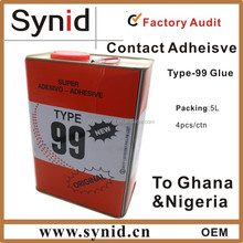 Solvent based Neoprene contact adhesive glue, contact cement